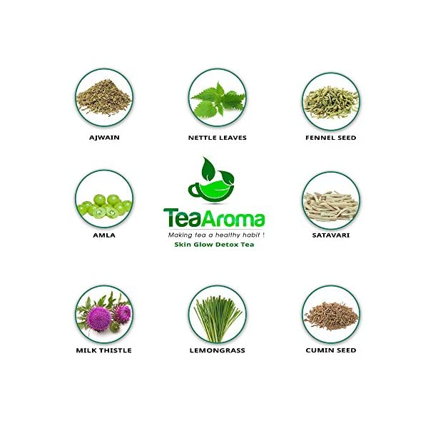 Tea-Aroma-Detox-Ayurveda-Cleansing-Organic-Green-Tea-with-18-Natural-Herbs-for-Weight-Loss-Improvement-of-Metabolism-Immune-System-100g