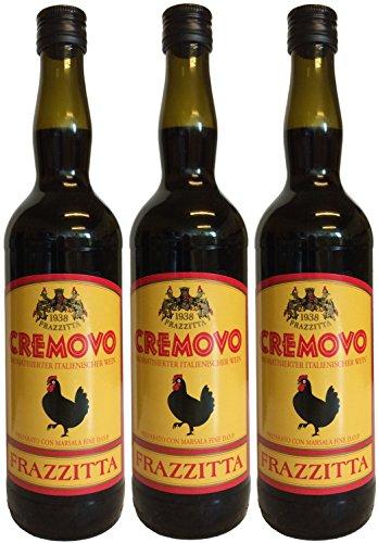 Marsala Cremovo FRAZZITTA (3 X 0,75 L) - Vino Aromatizzato all´Uovo - Aromatisierter Wein mit Ei 14,9 {209aa22f45104fbb1aa7535bc36a2fa03aa0e6e28fc67b0feb91adf0865b8556} Vol. aus Italien
