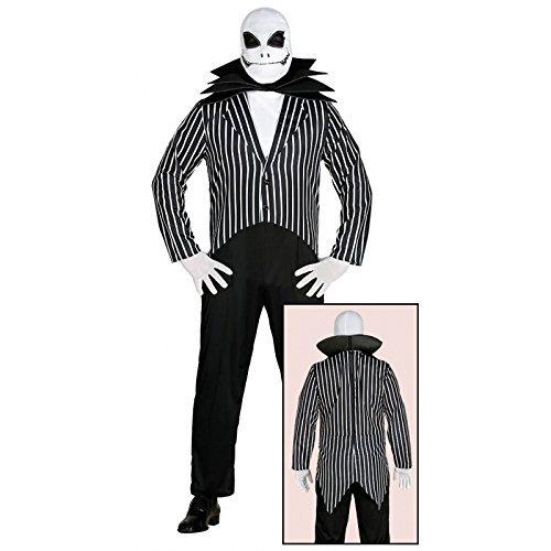 Skellington Jack Erwachsenen Für Kostüm - Guirca Jack Skeletron Kostüm in Weiß und Schwarz, Einheitsgröße, 84425