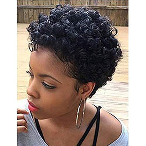 Aiyi parrucca africana di parrucca di alta qualità di cosplay della parrucca di halloween della testa nera di bobo head black short