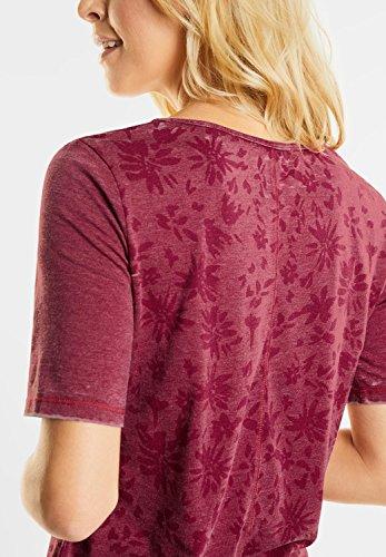 CECIL Damen Ausbrennershirt mit Sternen velvet red (rot)