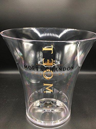 Moet & Chandon Champagner Flaschenkühler Transparent für eine Magnum 1,5 Liter oder 0,75 L Champagne Flasche