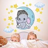 wall art r00322Pegatinas de Pared para niños, Elefante hipoalergénica, 100x 30x 0,1cm