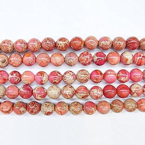 thetastejewelry Meeressediment rund 4mm Flach Rot Jasper Perlen 38,1cm 38cm Halskette Heilung Schmuck herstellen