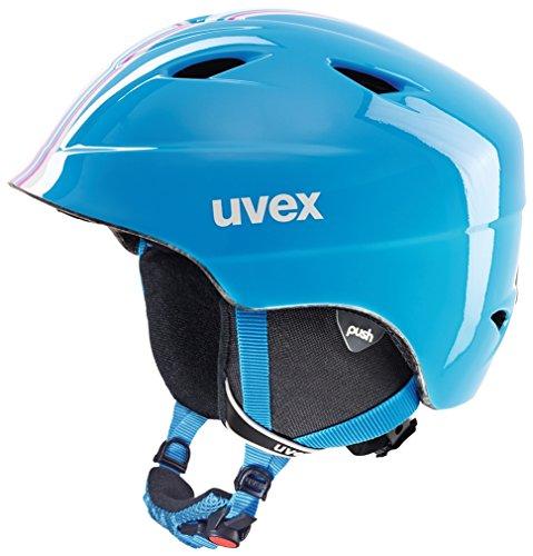 Uvex Kinder Airwing 2 Race Skihelm, Cyan-Pink, 52-54 cm