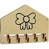'Bandschleife' an der Wand befestigter Schlüsselhaken / Halter (WH00027271)