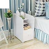 FJIWDTGYHFGT Creative geschnitzten Mini-nachttisch,Moderne minimalistische schmale nachtschrank kleine Kinder Schlafzimmer schließfächer-B 50x25x40cm(20x10x16inch)