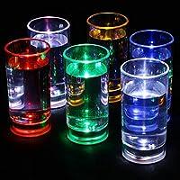 Vasos de chupito con luz intermitente activada, 60 ml, ...