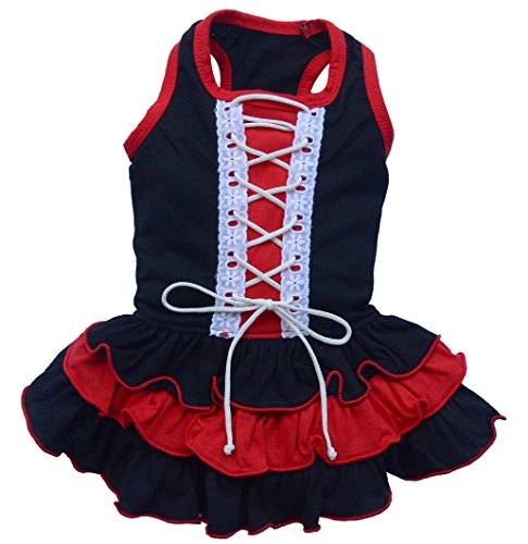 Doggy Dolly CGR-D220Perros vestido corsé negro