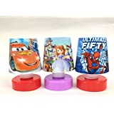 Shopkooky Cartoon Printed LED Night Lamps Perfect for Your Kids Room / Return Gift / Birthday Gifts Online - Pack of 3
