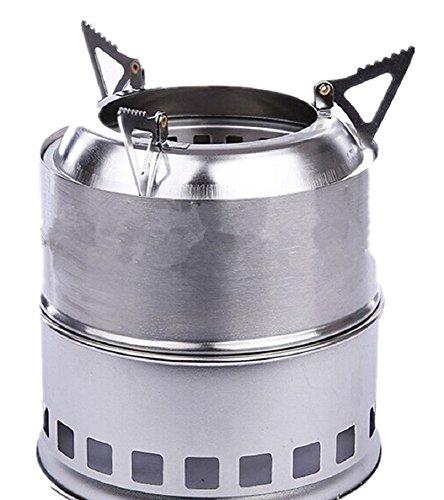 Lixada R/échaud /à Bois L/éger Acier Inoxydable Portable R/échaud /à Alcool Solidifi/é Cuisine en Plein Air Pique-Nique Barbecue Camping