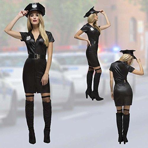 stin Kostüm Cop Uniform L 44/46 Polizeikostüm Damen Karnevalskostüm Polizei Frauenkostüm Officer Faschingskostüm Politesse ()