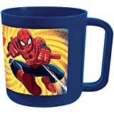 FUN HOUSE 005490 Marvel Spiderman Mug/Tasse Micro-ondable pour Enfant, polypropylène, Bleu, 10,5 x 8,7 x 8,2 cm