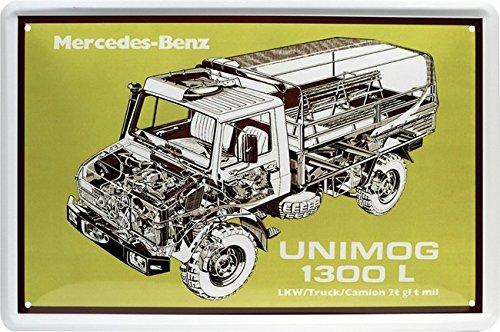 Unimog 1300L - Die Alleskönner Legende LKW Blechschild 20 x 30 Retro Blech 1716