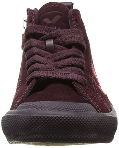 Veja Botinha Lace & Zip, Boots fille Violet (Burgundy Pekin)