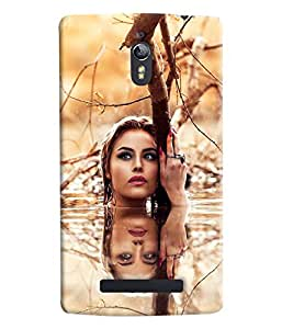 Blue Throat Girl Pose In Water Hard Plastic Printed Back Cover/Case For Oppo Find 7