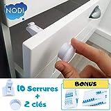 10 Bloque Porte Invisible + 2 clés + BONUS - NODI - HAUTE QUALITÉ - Sécurité...