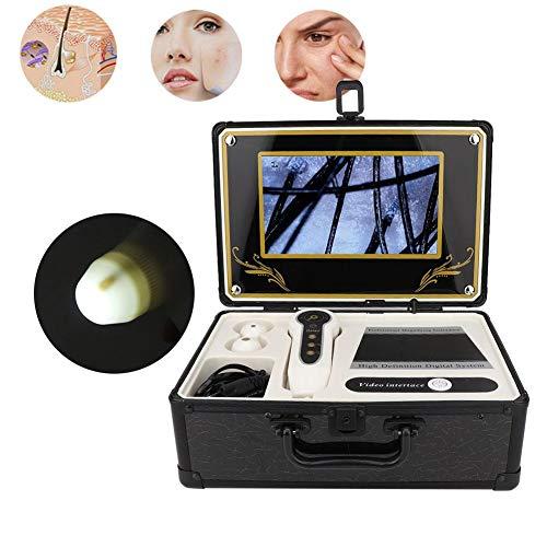 Haut Kopfhaut Analysator, Haarfollikel Gesichtshaut Detektor, Berufs Mikroskop Haut Gesundheits Entdeckungs Werkzeugmaschine 50X 200X für Hauptsalon Gebrauch(EU)