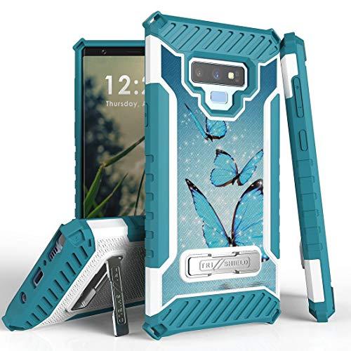 Beyond Cell Schutzhülle für Samsung Galaxy Note 9 (MIL-STD 810G-516.6), mit Standfunktion, Militärqualität, robust, mit Atom Tuch, Blau Duo Shield Armor Case