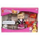 Simba 109301682 - Mascha und der Bär - Mascha Puppe im Rock-Outfit mit Instrumenten