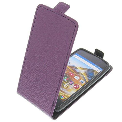 foto-kontor Tasche für Archos 40 Neon Smartphone Flipstyle Schutz Hülle lila
