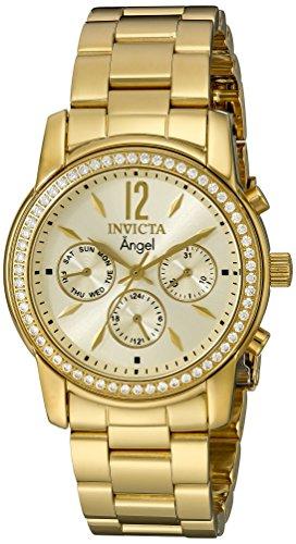 Invicta 11770 Angel  Orologio da Donna acciaio inossidabile Quarzo quadrante oro