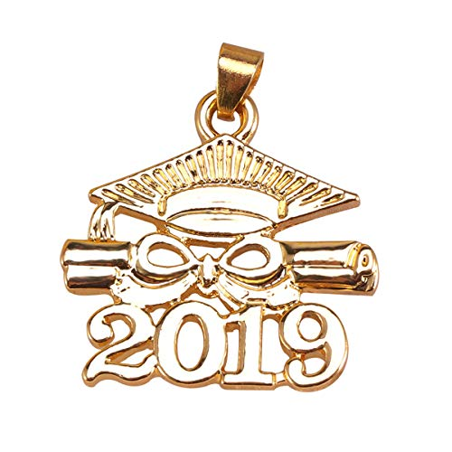 2019 Graduation Charms anhänger Graduation Cap für schmuck Machen Graduation Geschenk Party Favors (golden) ()