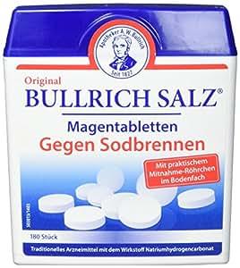 Original Bullrich Salz Tabletten   schnelle Hilfe bei Sodbrennen und säurebedingten Magenbeschwerden (180 Tabletten)