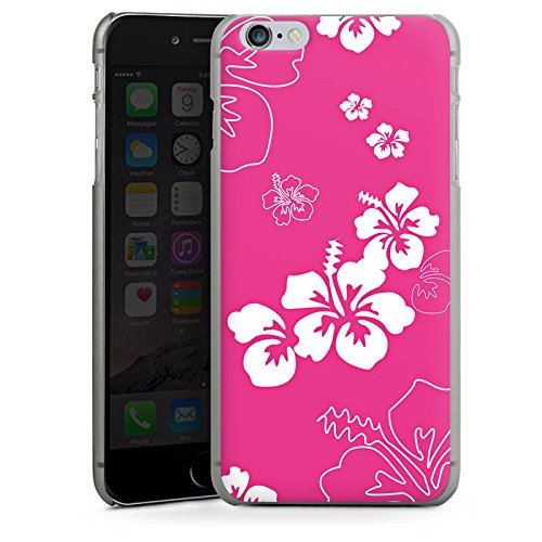 Apple iPhone X Silikon Hülle Case Schutzhülle Blume Flower Muster Hard Case anthrazit-klar