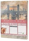 """Mein Einzigartiges XXL Vokabelheft: 100+ Seiten, 2 Spalten, Register / Lernerfolge auf jeder Seite zum Abhaken / PR101 """"Englisch Vintage"""" / DIN A4 Softcover"""