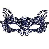 Halloween Blue Adult Spitze Heiß Stempel Maske Abendkleid Prinzessin Party Half Face Blind, 1
