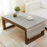 Salon Table basse Tissu Nappe Rectangulaire Tissu de lin Moderne Serviette de thé simple TV Cabinet Tapis Tissu Table Mats (taille : 60 * 150cm)