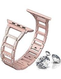 ITSHINY para Correa Apple Watch 38mm 40mm para Mujer, Bandas para Iwatch Ajustables y Modernas