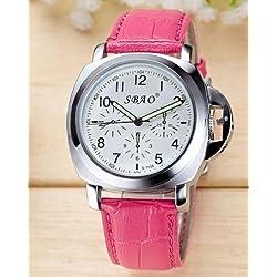 Wasserdichte casual Uhren, Damenuhren , pink