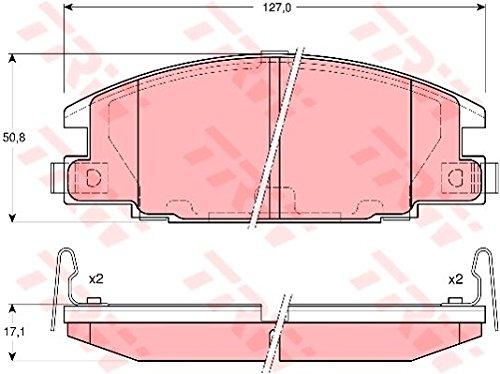TRW Automotive AfterMarket GDB3161 Kit Pastiglie Freno, Freno A Disco