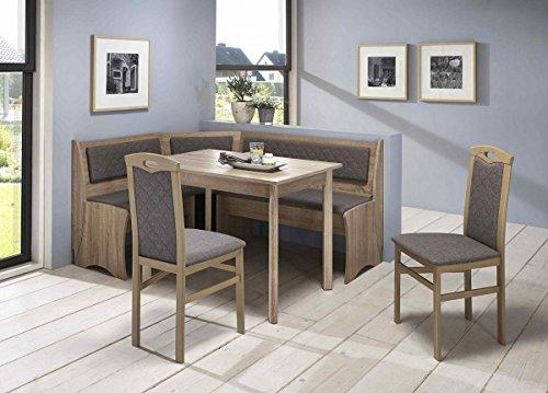 Dreams4Home Eckbankgruppe U0027Manuelau0027, Essgruppe 165 X 125 X 82 Cm,  Vierfußtisch, 2 Stühle, Modern, Eckbank, Küchentisch, 4 Teilig Landhaus  Küche, ...