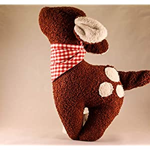 Das zuckersüße Rehkitz Emmi, Gr. XL, aus weichem Frottee, auch mit Handtuch, Rassel, oder Spieluhr, Namensbestickung auf dem Halstuch