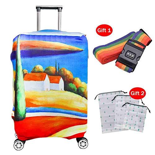 Preisvergleich Produktbild Suitcase Cover Kofferabdeckung Polyester Dicke,  verschleißfeste 3D-Cartoon-Koffer-Schutzhülle Staubdichte Schutzhülle für das Reisen zu Hause, 1, L