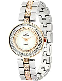 LUCERNE Analogue White Designer Dial Rose Gold And Silver Metal Strap Casual Gift Watch For Women A Modern Ladies...
