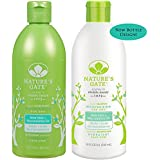 Nature s Gate All Natural Organic Moisturizing Aloe Vera Shampoo and Conditioner Bundle For Normal to Dry Hair With Jojoba, Borage, Avocado, Panthenol and Nettle, Sulfate Free, 18 fl. oz. each