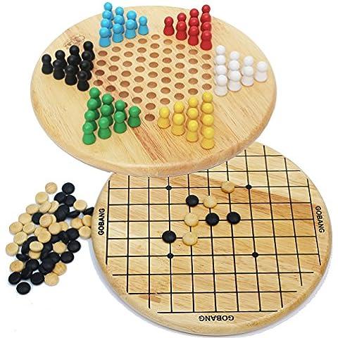 Toys of Wood Oxford Dama cinese e Gobang (cinque di fila), 2 in 1 gioco - Campione Cina