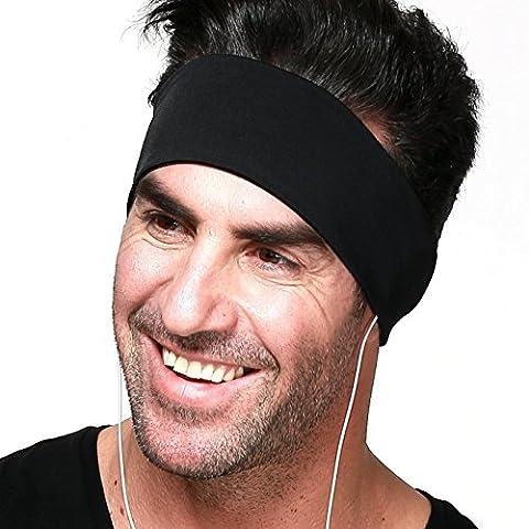 Sport-Kopfhörer / Mehrfunktional Kopfhörer / Polyester-Stirnband mit abnehmbaren integrierten Kopfhörern für Fitness und Sport (Bequemer Sleep)