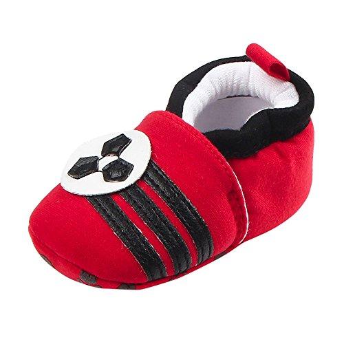Kobay Babyschuhe Kleinkind schöne erste Wanderer Babyschuhe runde Kappe Wohnungen weiche Hausschuhe Schuhe(11/3-6M,EIN)
