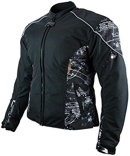 Heyberry Damen Motorrad Jacke Motorradjacke Textil Soft Shell Schwarz Gr. XXL/44
