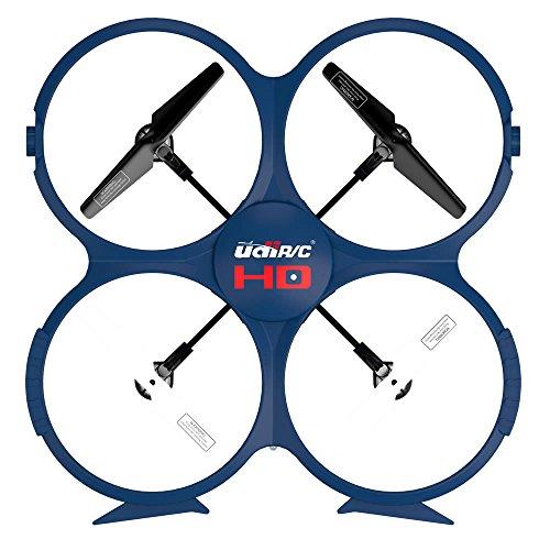 UDI RC U818A-1 HD UPGRADE SafeFly Special Edition mit Extra 3 POWER AKKUS-HD Kamera mit Tonaufzeichnung, 4 GB Micro SD Speicherkarte & SafeFly Sonnenbrille, Akku-Warner, 4.5 Kanal Drohne, LCD Display, GYROSCOPE-TECHNIK + 2,4Ghz TECHNOLOGIE, für INNEN und AUSSEN! FLUGFERTIG! - 3