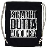 Urban Backwoods Straight Outta Alonquin Bay Bolsa de Cuerdas con Cordón Gimnasio