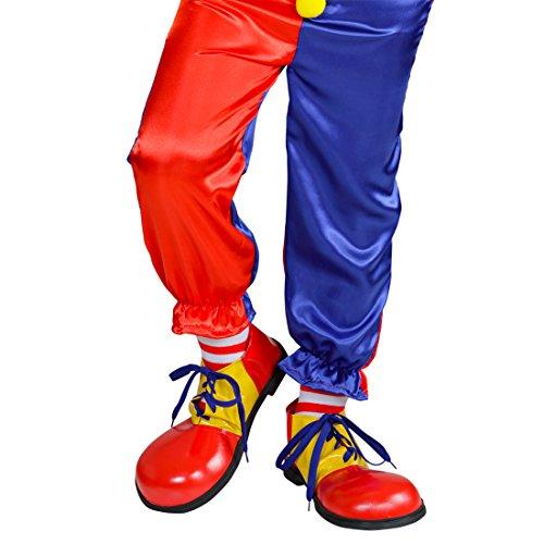 NET TOYS Bunte Clown Schuhe für Kinder Clownschuhe -
