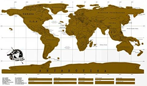 Scratch Mappa del mondo da Minitbuy poster-I Paesi viaggio Scratch Off-regalo perfetto per viaggiatori e avventurieri Large