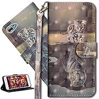 HMTECH LG Q6 Hülle Luxus 3D Süßes Cat Tiger Flip Standfunktion Karten Slot Magnetverschluß Brieftasche Taschen... preisvergleich bei billige-tabletten.eu