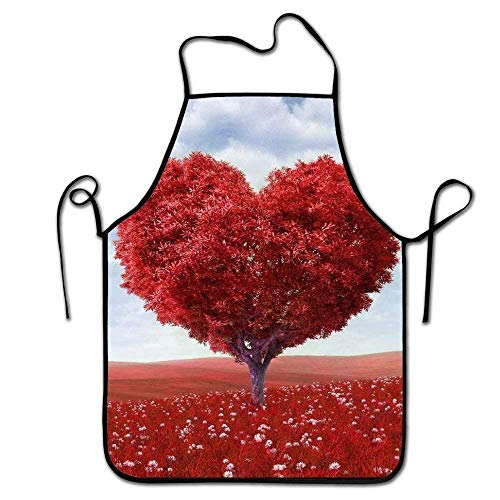 tgyew 2019 Apron Adjustable Kitchen Chef Apron-A Heart Shaped Red Tree£¬Commercial Men & Women Bib Apron - Lacy Baby-sets